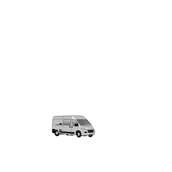Vector image of Ducato delivery van