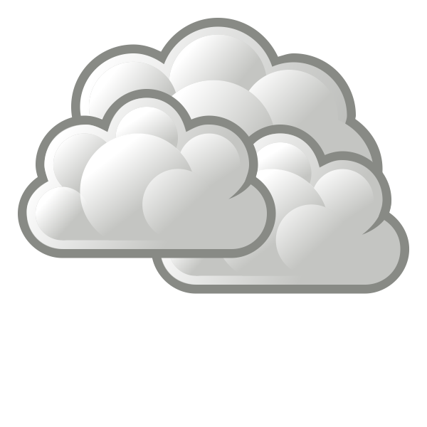 Color weather forecast icon for cloudy sky vector graphics