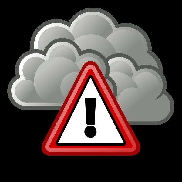 Storm warning sign vector image