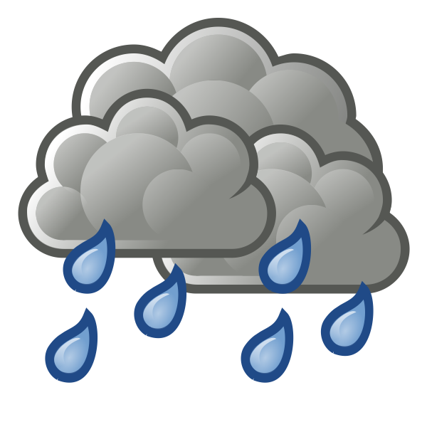 Color weather forecast icon for rain vector illustration