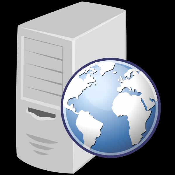 Web server vector icon