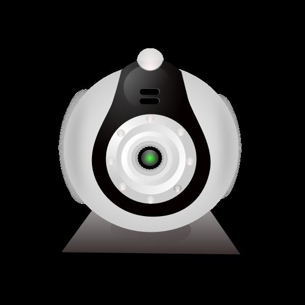 Vector clip art of typical low-cost webcam