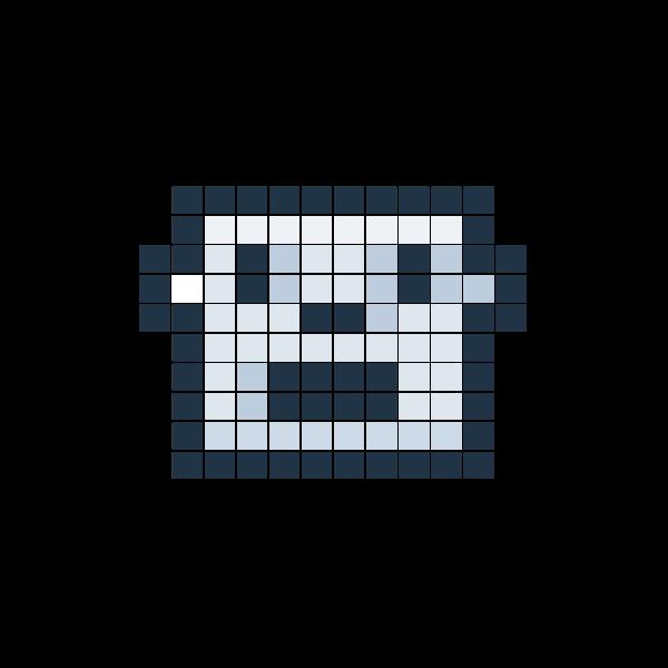 robot in pixels