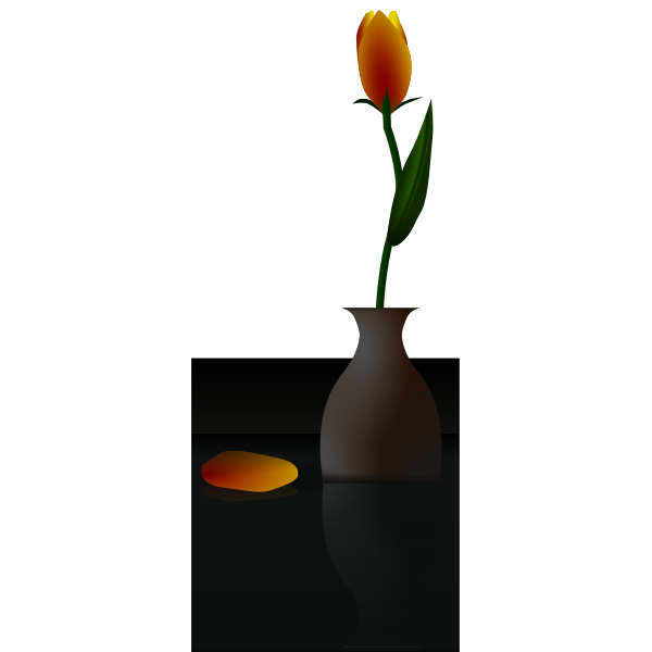 Tulip in a vase vector illustration