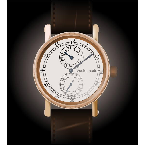 Classic wristwatch vector image