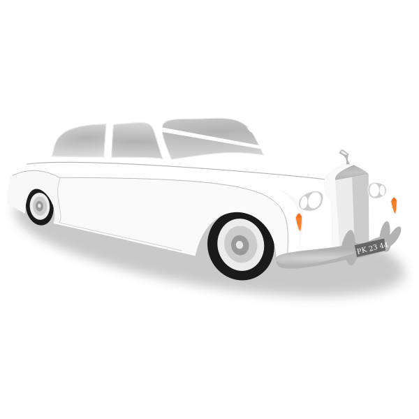 Wedding car vector image