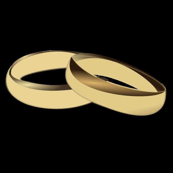 Gold wedding rings vector clip art