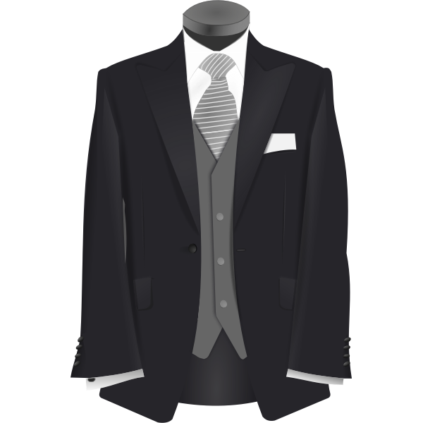 Wedding suit on a stand vector clip art
