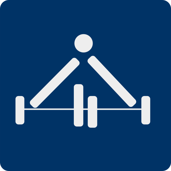 Vector drawing of weight lifting sport pictogram
