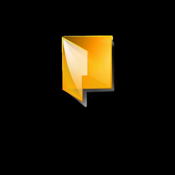 Transparent computer folder icon vector image
