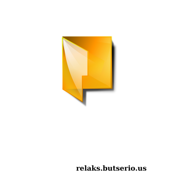 Transparent computer folder icon vector image