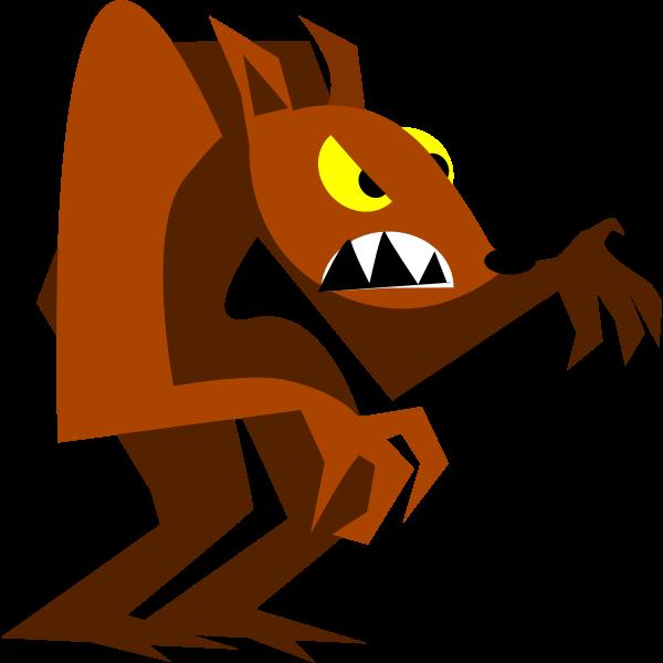 Grumpy cartoon wolf vector image
