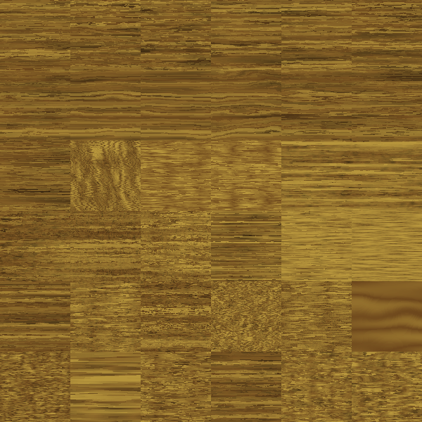 Dark brown wooden block