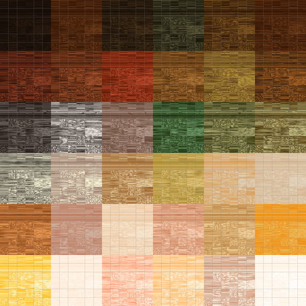 Colored wood blocks