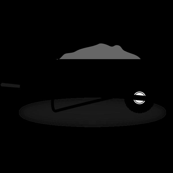 Wheelbarrow silhouette vector image