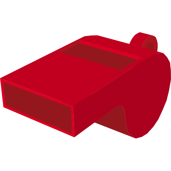A party whistle vector drawing