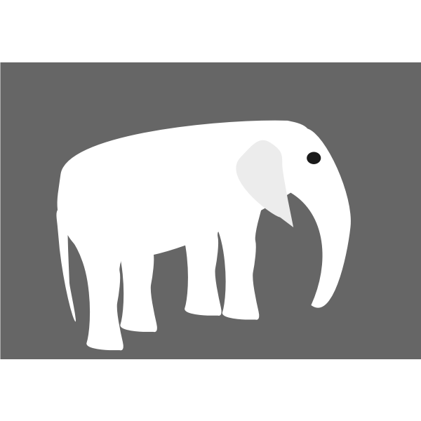 Elephant pictogram vector drawing