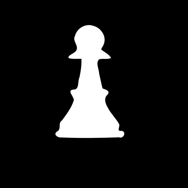 White pawn silhouette