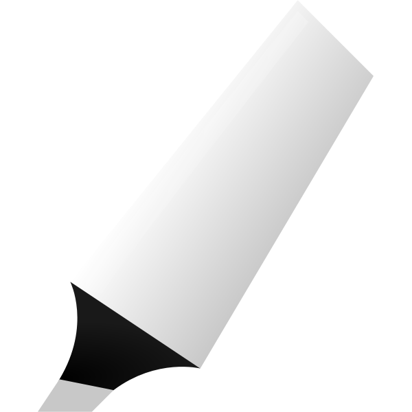 Vector clip art of white highlighter