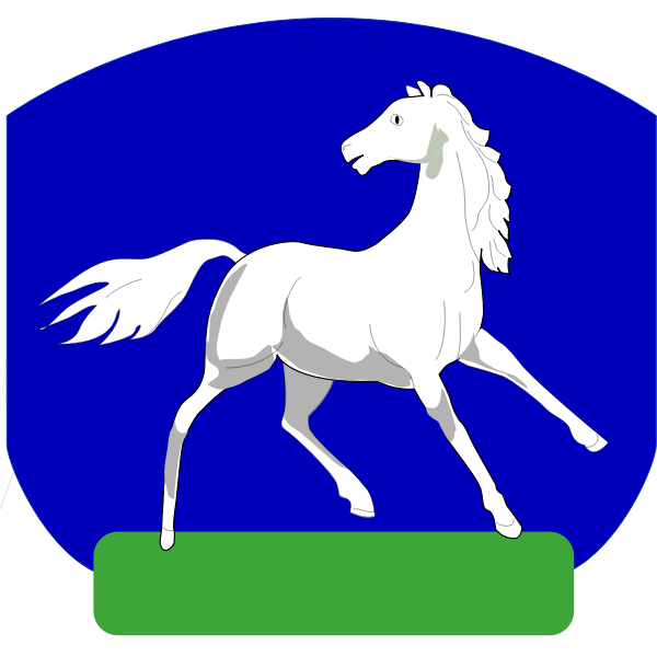 Vector image of horse coat of arms