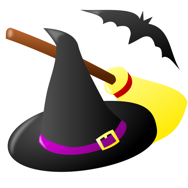 Color Halloween witchcraft vector illustration