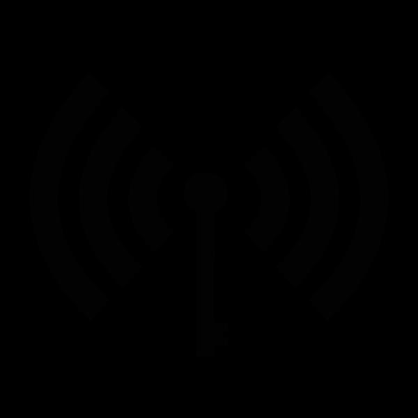 Wi-Fi symbol black silhouette