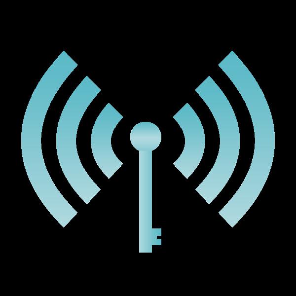Wi-Fi symbol blue color