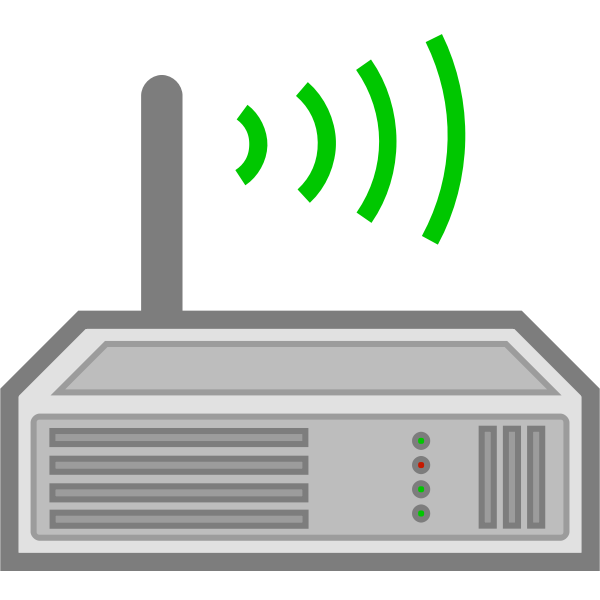 Wireless router icon vector illustration