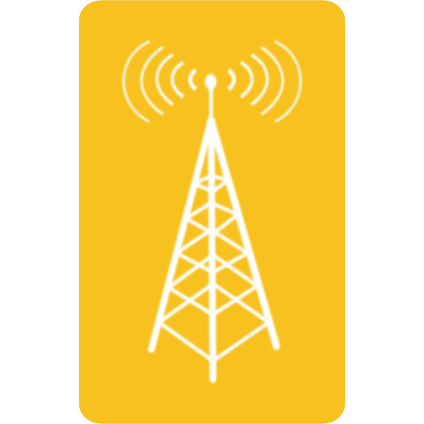 Vector illustration of blue Wi-Fi symbol