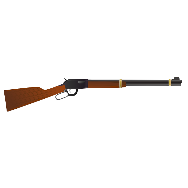 Winchester Model 1873 rifle vector illustration