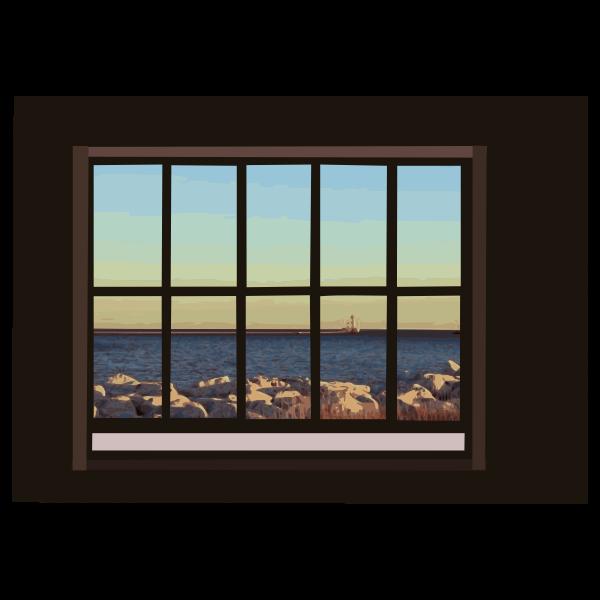 Ocean-view window