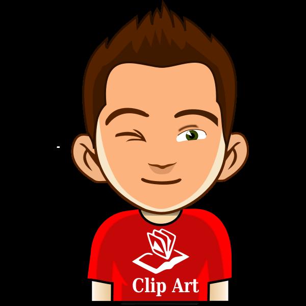 Comic boy profile picture vector illustration