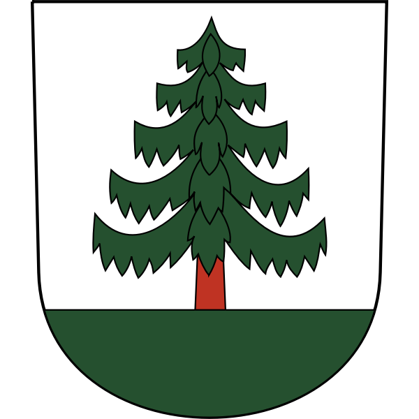 Vector image of coat of arms of Bauma City