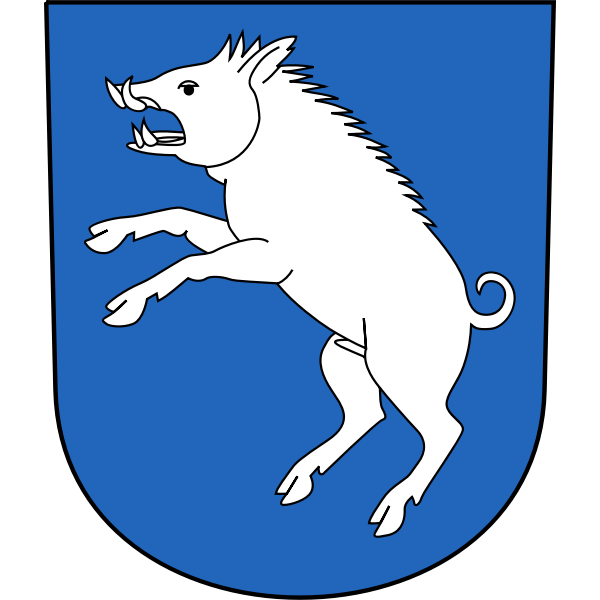 Vector drawing of coat of arms of Berg am Irchel municipality