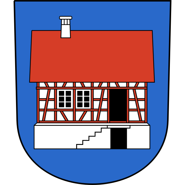 Vector image of coat of arms of Hausen am Albis