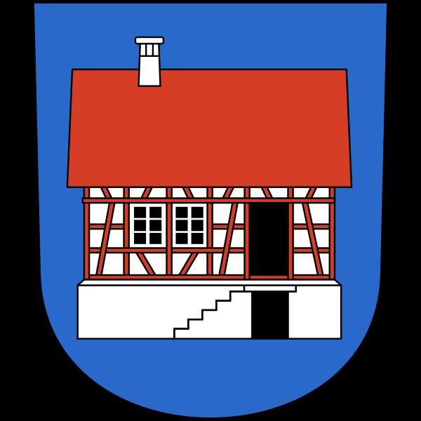 Vector image of coat of arms of Hausen am Albis