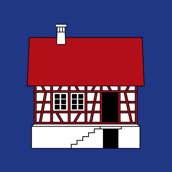 Vector clip art of coat of arms of Hausen am Albis village