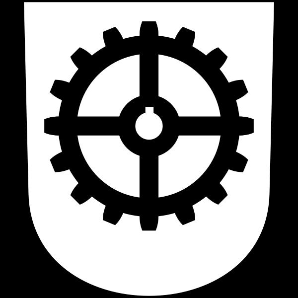 Industriequartier coat of arms vector image