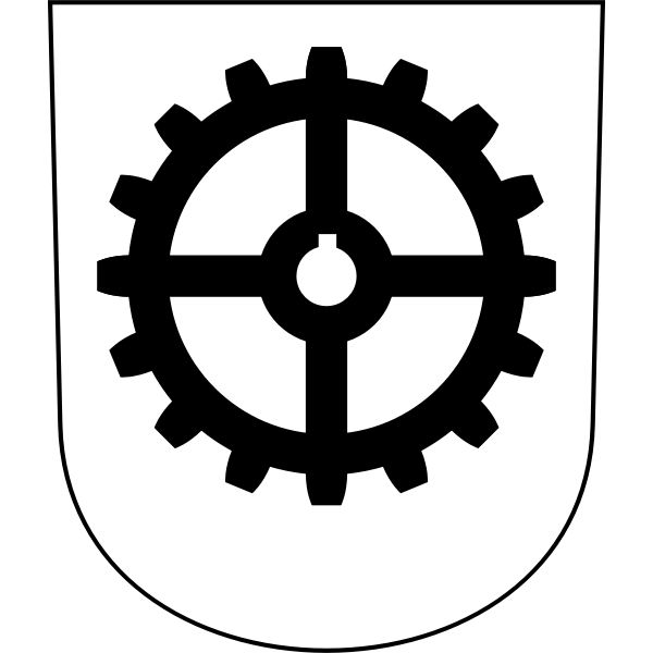 Industriequartier coat of arms vector image