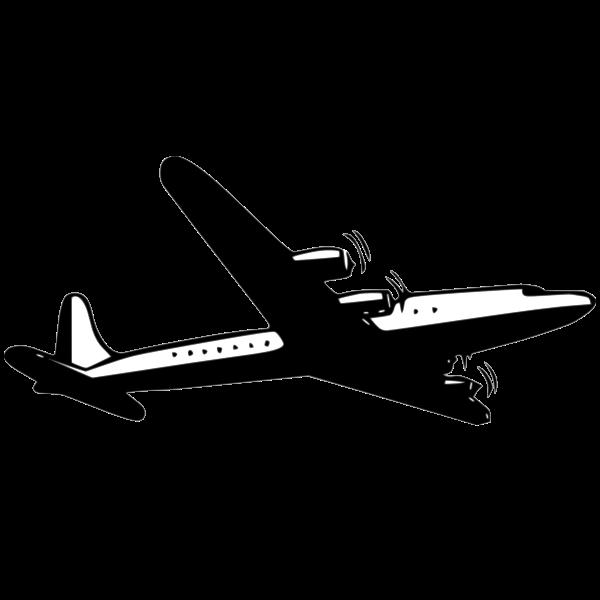 Propeller airliner vector image