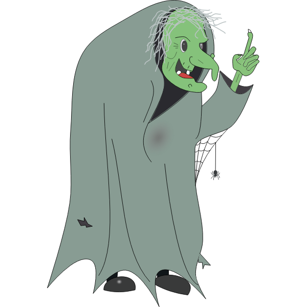 Witch in a hooded dress vector image
