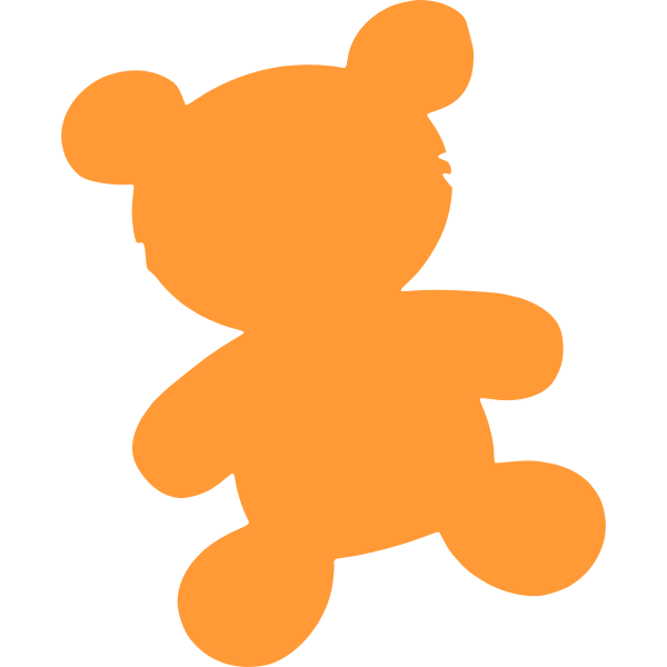 Bear toy silhouette vector image