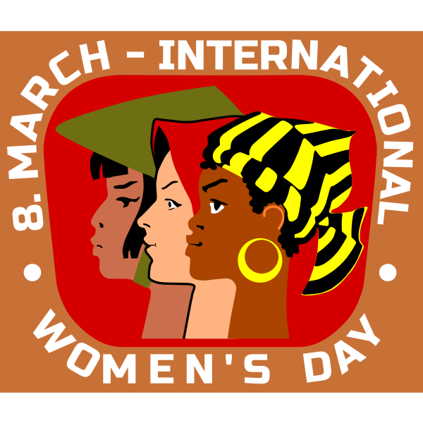 International Working Woman's Day poster vector clip art
