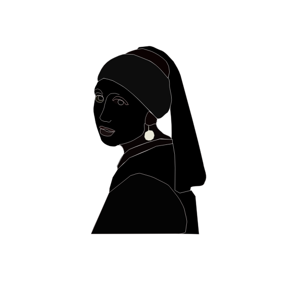 woman with pearl black