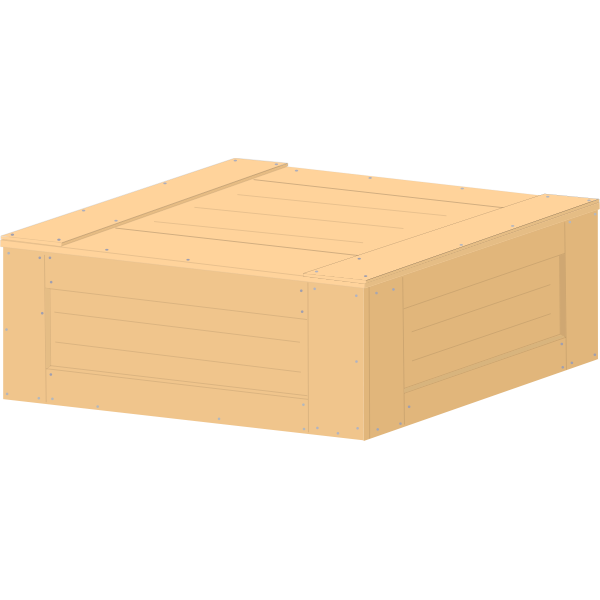 Pastel colored wooden crate vector image