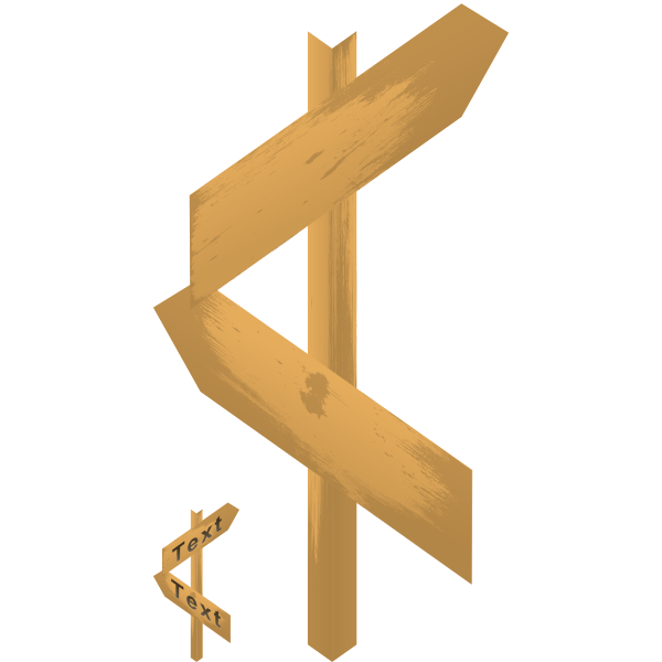 woodenblankarrowsign
