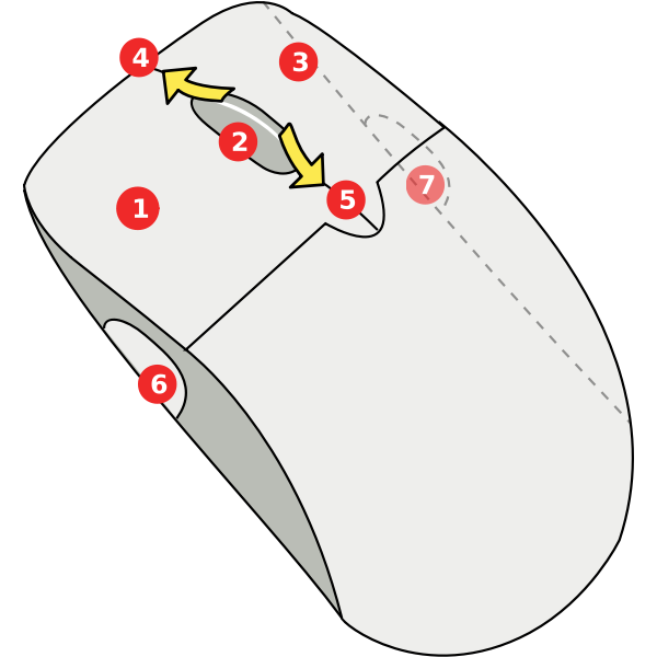 Diagram Of Wireless Mouse Vector Image