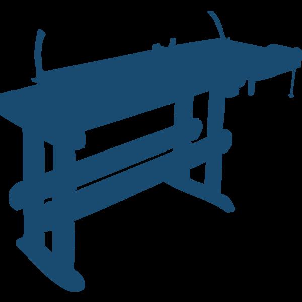 Work bench vector clip art