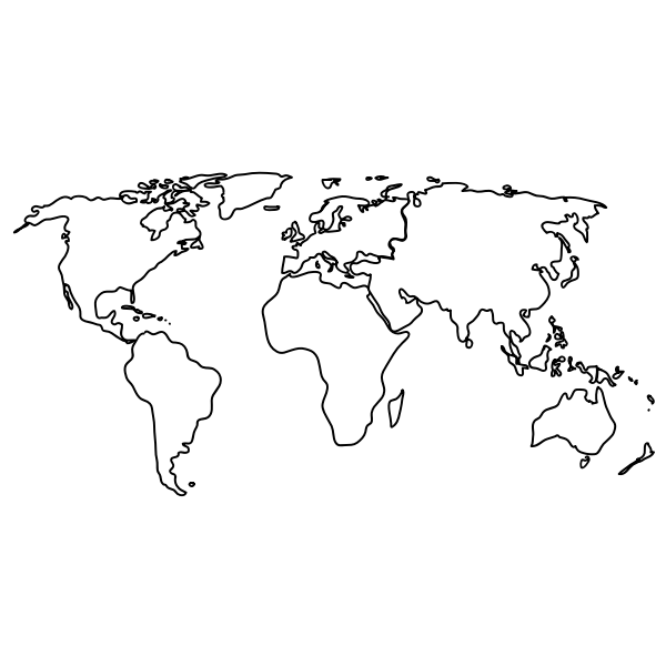 vector image of map of the world