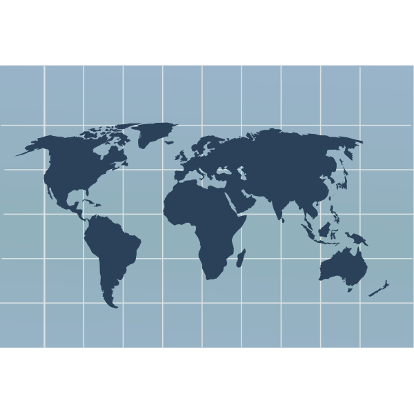Map of the world outline